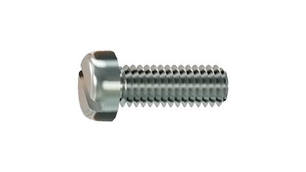 Slotted screws pan head