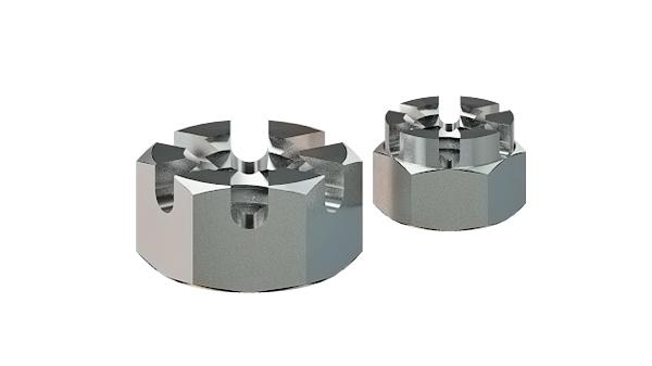 Castle nuts hexagon slotted