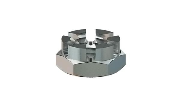 Castle nuts hexagon thin slotted
