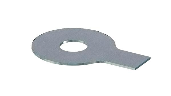 Plain washers with a long tab