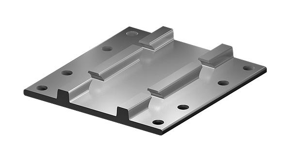 Bridge base plates flat (S6 pl)