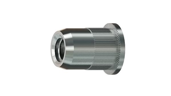 Threaded inserts cylindrical head, knurled