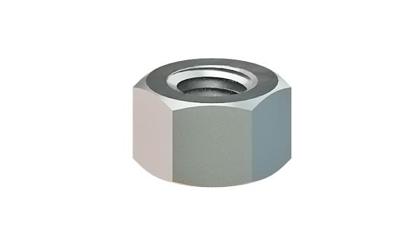 Hexagon nuts height of 1d