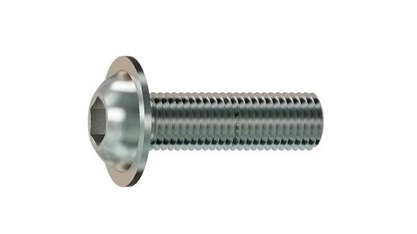 Hexagon socket screws button head with collar