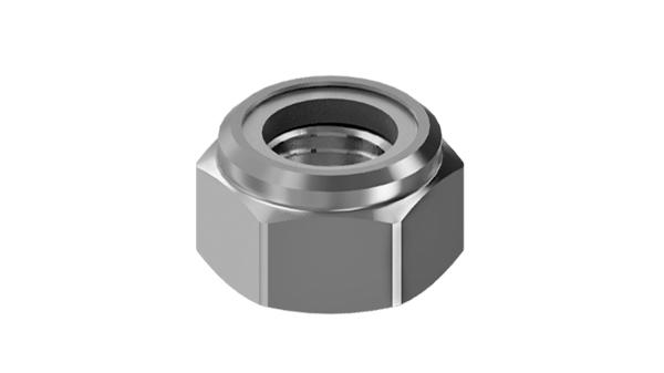 Nuts hexagon, prevailing torque type