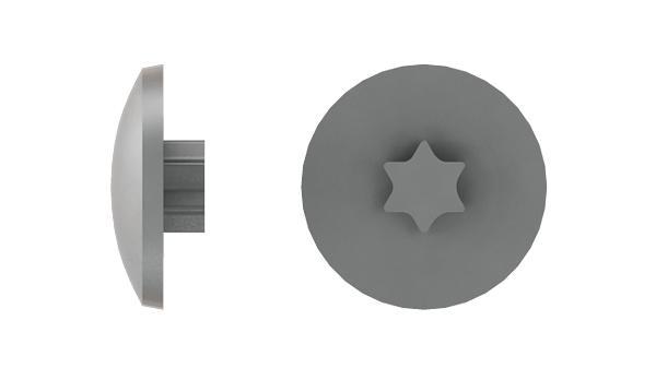 Caps for countersunk hexalobular internal drive (TORX) screws