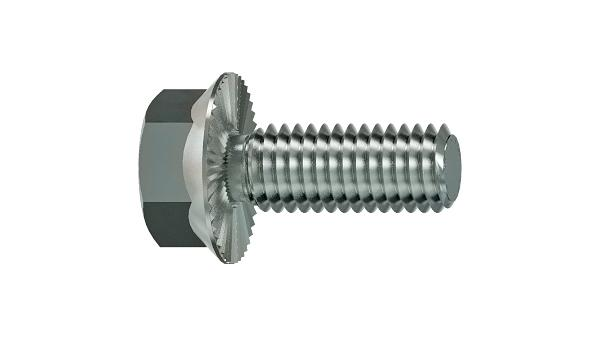 Hexagon self locking flange bolts with ribbing Ripp