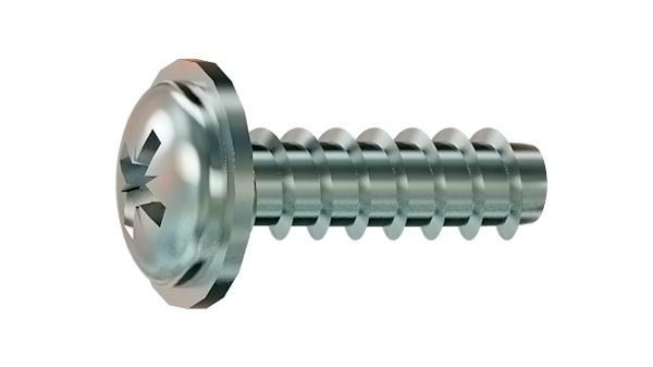 Screws for plastics cross recessed pan head with flange