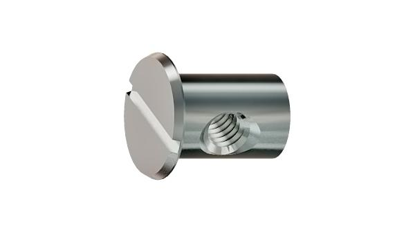 Furniture nuts slotted barrel nuts with flange