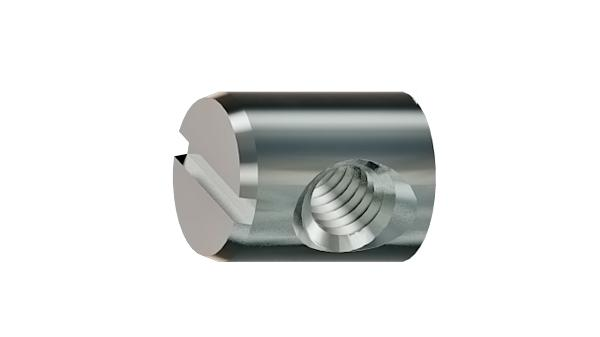 Furniture nuts slotted barrel nuts