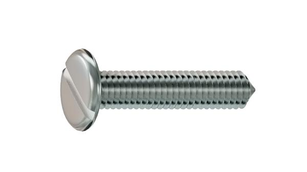 Screws for furniture slotted chamfered head and point