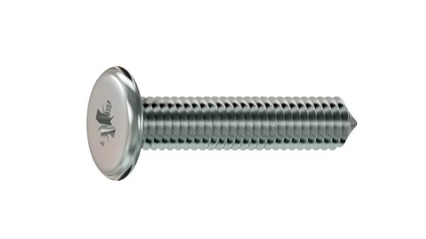 Screws for furniture cross recessed chamfered head and point